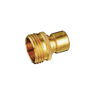 Dramm Brass Quick Disconnect Water Stop Male 741
