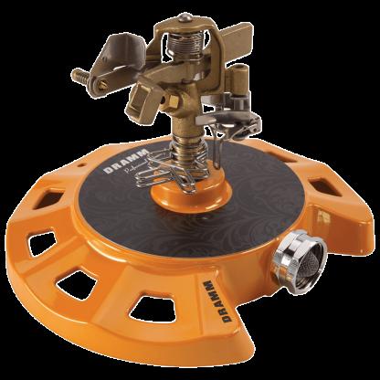 Dramm Orange ColorStorm Circular Base Impulse Sprinkler 15082