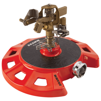 Dramm Red ColorStorm Circular Base Impulse Sprinkler