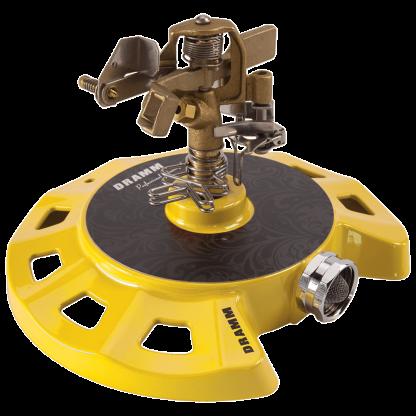 Dramm Yellow ColorStorm Circular Base Impulse Sprinkler 15083