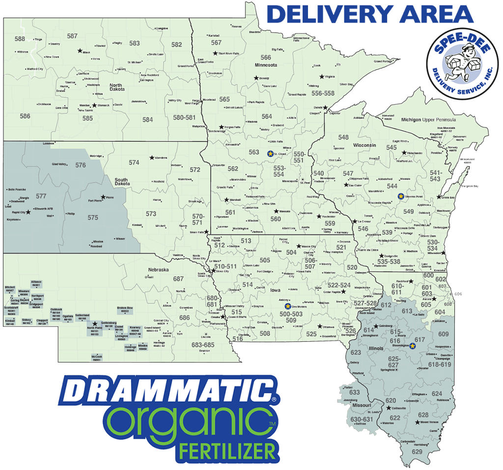 Drammatic Organic Fertilizer Midwest Delivery Area