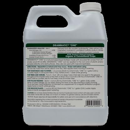 Dramm Drammatic Organic Fertilizer ONE Label