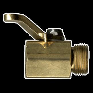 300RH Raised Handle Brass Shut-Off Valve 73302